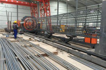 En iyi fiyat kaynaklı tel örgü rulo makinesi, Takviye kafes dikiş kaynakçı çapı 500-2000mm
